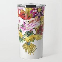 Parrot Floral Travel Mug