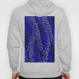 Authentic Aboriginal Art - Grass (Blue) Hoody