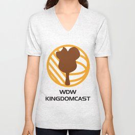 WDW Kingdomcast - Classic logo Unisex V-Neck