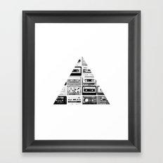 ▲ Triangle Cassettes △ Framed Art Print