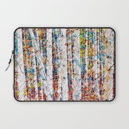 Bare trees colorful abstract pattern Laptop Sleeve