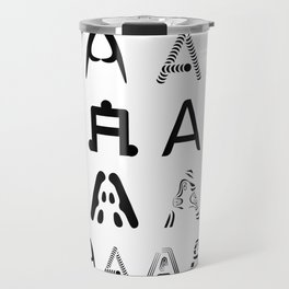 A is the first letter Travel Mug