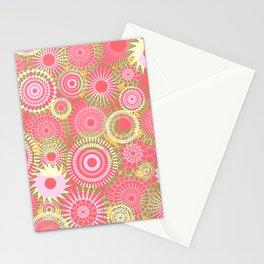 Kooky kaleidoscope Coral Stationery Cards