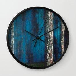 Inside the dark forest Wall Clock
