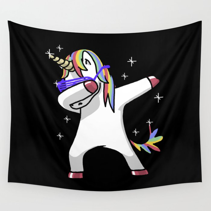 0a98c39ed7a Dabbing Unicorn Shirt Dab Hip Hop Funny Magic Wall Tapestry