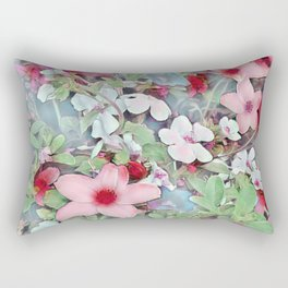 Flowerful Rectangular Pillow
