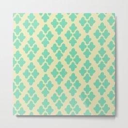 Minty Chic Pattern Metal Print