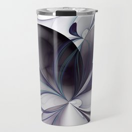 Easiness, Abstract Modern Fractal Art Travel Mug