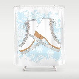 Ice skates Shower Curtain