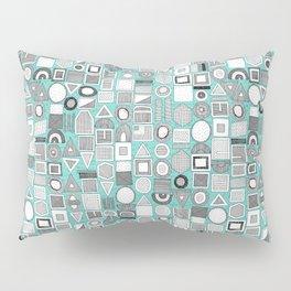 frisson memphis bw aqua Pillow Sham