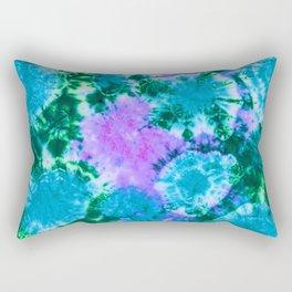 Blue Fun Guy Mushrooms Rectangular Pillow