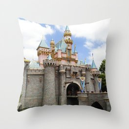 Sleeping Beauty's Castle (Daytime, no.3) Throw Pillow