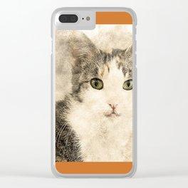 Catty Cat Clear iPhone Case