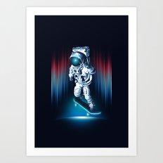 Space Skater Art Print