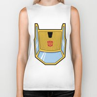 transformers Biker Tanks featuring Transformers - Sunstreaker by CaptainLaserBeam