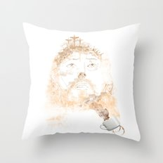 A CUP OF FAITH Throw Pillow