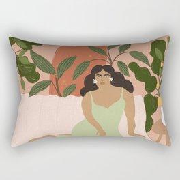 Life With Plants Rectangular Pillow