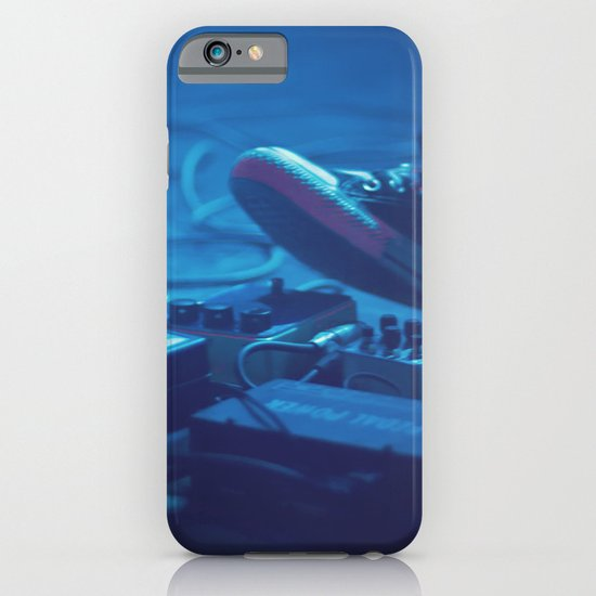 Stompboxes (Indie rock music concert, Stumping on effects pedals) iPhone & iPod Case