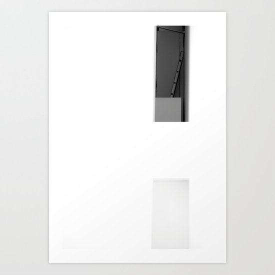 Half something, MACBA, Barcelona Art Print