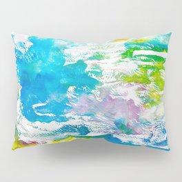 Algae and Aqua - Abstract Painting Pillow Sham