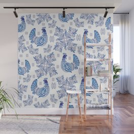 Gzhel background Wall Mural