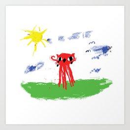 Octocat Happy Art Print