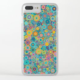 Psychedelic funky Seventies disco party Clear iPhone Case