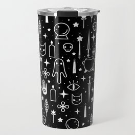 Spirit Symbols Black Travel Mug