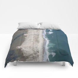 Aerial Beach Photograph: Masonboro Island   Wrightsville Beach NC Comforters