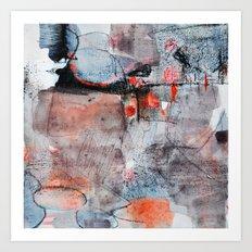 grey red 1 Art Print