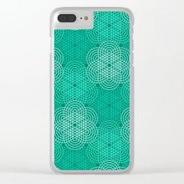 Op Art 76 Clear iPhone Case