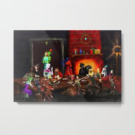 Highwinter Hearth Metal Print