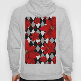 Poinsettias and HARLEQUIN Hoody