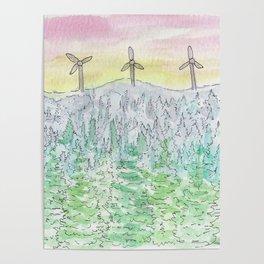 Watercolour - New Brunswick Sunset Poster