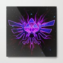 Zelda Space Metal Print