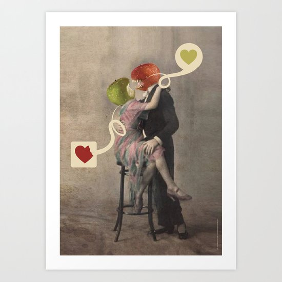 Loving Apple Art Print