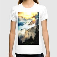 mountains T-shirts featuring Sunrise mountains by 2sweet4words Designs