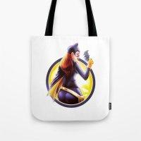 batgirl Tote Bags featuring Batgirl by kcspaghetti