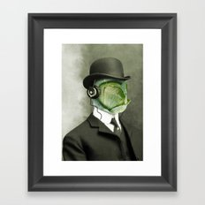 Bowler cabbage Framed Art Print