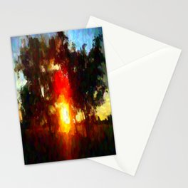 Sun Between Trees Stationery Cards
