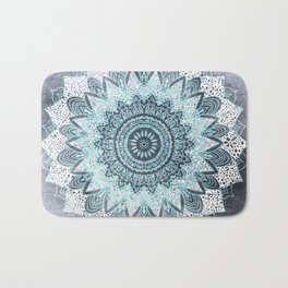 BOHOCHIC MANDALA IN BLUE Bath Mat