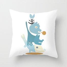 Four Musicians of Bremen Throw Pillow