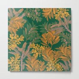 Golden Leaves Metal Print