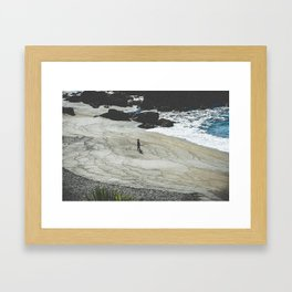 The Beach Azores Framed Art Print