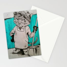 Janitor Cat Stationery Cards
