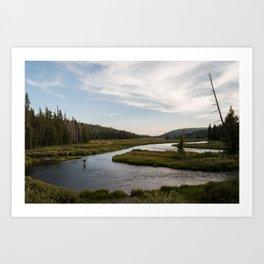 Yellowstone Fly Fishing Art Print