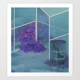 (Ex)/(In)terior #4 / Abandoned Greenhouse Art Print