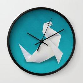 Seal origami Wall Clock