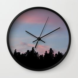 SIlhouette of the Northern Nature Wall Clock