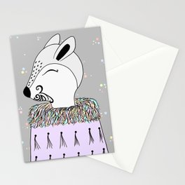 Miss Hata (in purple) Stationery Cards